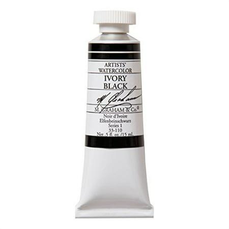 M. Graham 1/2-Ounce Tube Watercolor Paint, Ivory Black ()