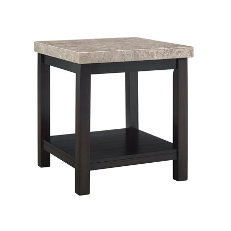 Picket House Furnishings Caleb End Table w/ Marble Top - Maple Contemporary Night Table
