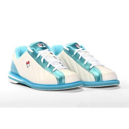 3G Kicks White/Blue Women's Bowling Shoes, Size