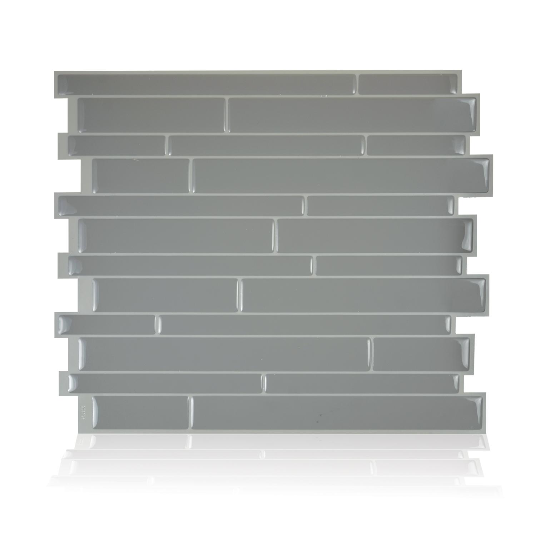 Smart Tiles 11.55 in x 9.63 in Peel and Stick Self-Adhesive Mosaic Backsplash Wall Tile - Milano Platino (each)