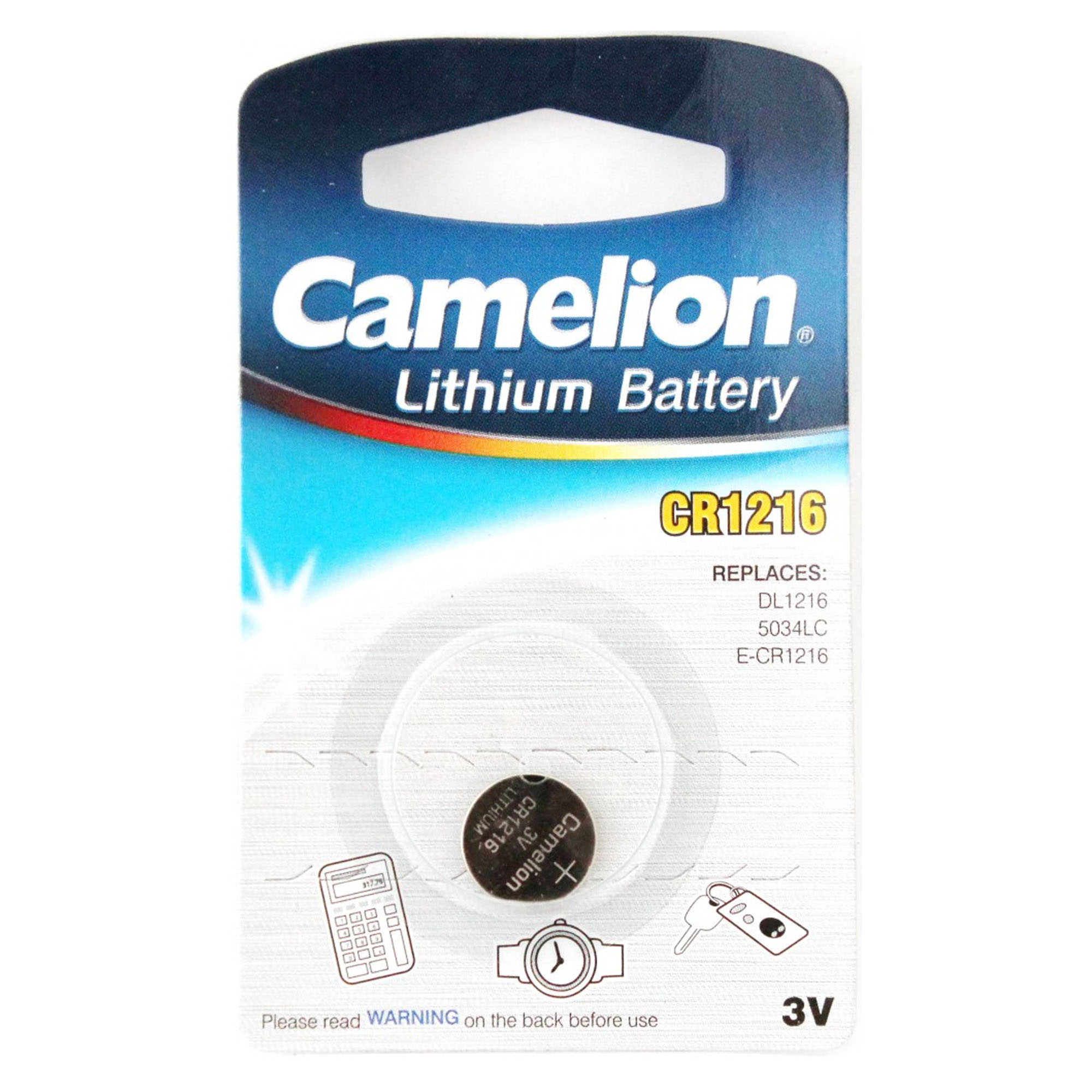 25-Pack CR1216 3 Volt Lithium Coin Cell Batteries (On a Card) - image 1 of 1
