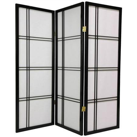 4 ft. Tall Shoji Privacy Screen w Strong Shade (3 Panels / Black) ()