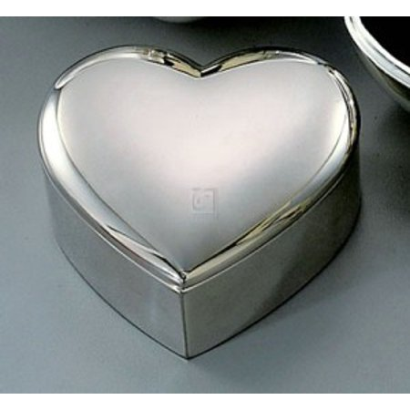 HEART BOX, SILVER PLATED. ()