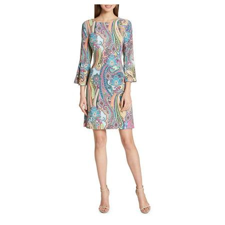 Jaipur Paisley Bell-Sleeve A-Line Dress Flattering A-line Dress