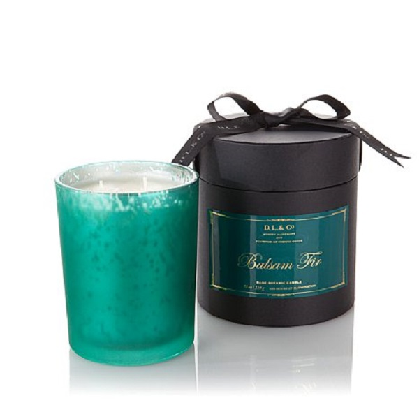 D.L. & Co. Frosted Mercury Green Balsam Fir Candle