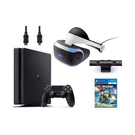 PlayStation VR Bundle 4 Items:VR Headset,Playstation Camera,PlayStation 4,VR Game Disc RIGS Mechanized Combat