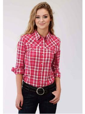 314947c7d Product Image Roper Ladies Plaid Long Sleeve Western Blouse Plaid Ls  Western Blouse L