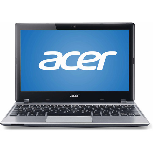 "Acer Glossy Silver 11.6"" Aspire V5-131-2497 Laptop PC with Intel Celeron 1017U Dual-Core Processor, 4GB Memory, 500GB Hard Drive and Windows 8"