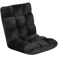 Best Choice Products 14-Position Memory Foam Cushioned Floor Gaming Chair - Black