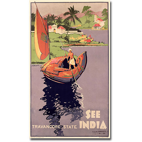 "Trademark Fine Art ""See India"" Canvas Wall Art"