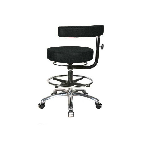 Perch Chairs & Stools Height Adjustable Dental Stool with Procedure Arm and Foot Ring by