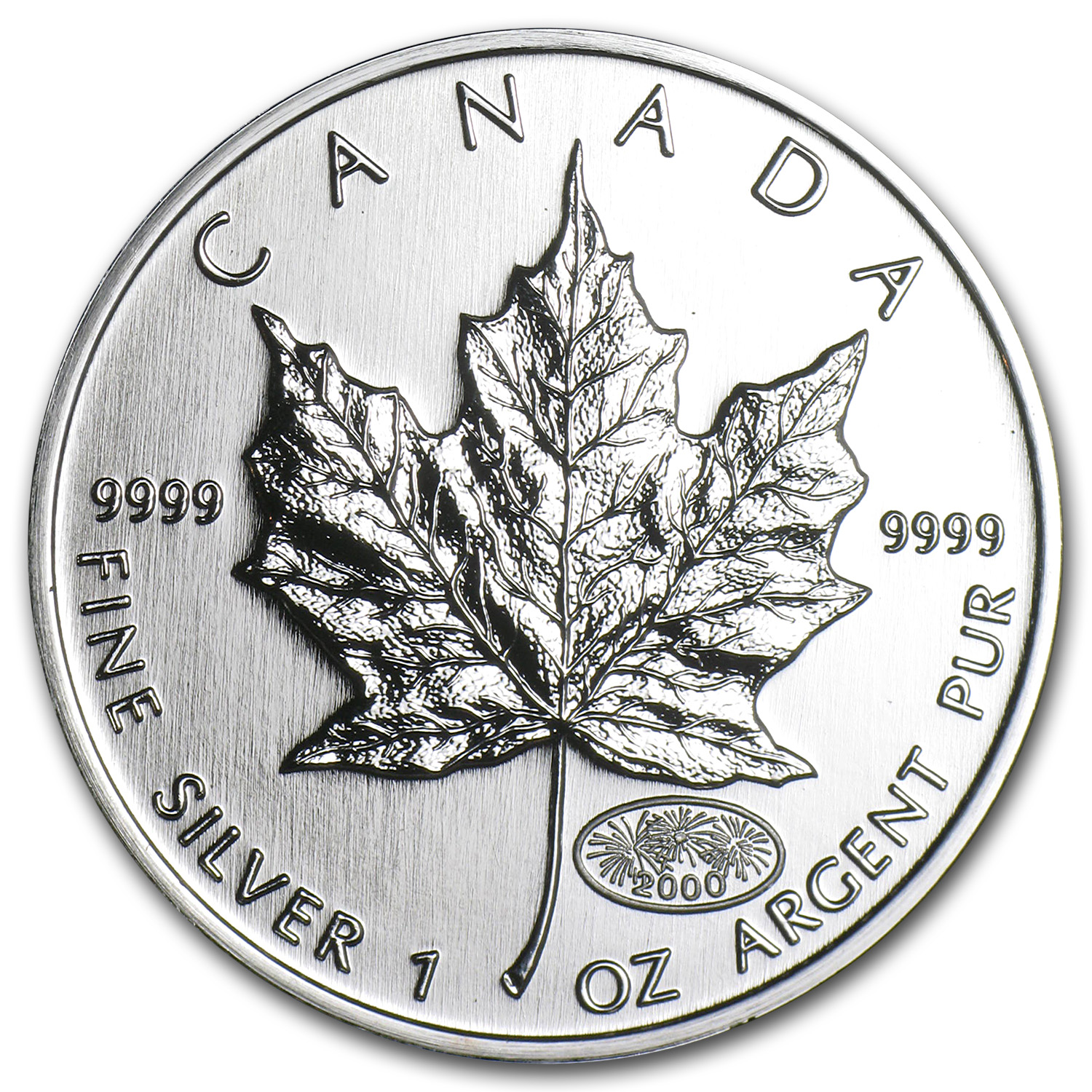 2000 Canada 1 oz Silver Maple Leaf BU