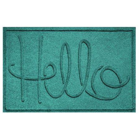 Waterhog Diamondcord Mat - Waterhog Simple Hello Doormat