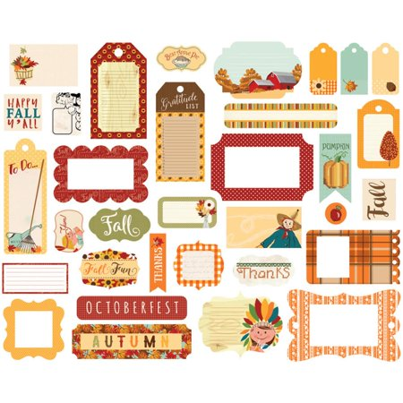 - Autumn Ephemera Cardstock Die-Cuts-Frames & Tags