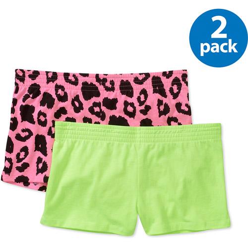 No Boundaries Juniors' Knit Cheer Shorts 2-Pack