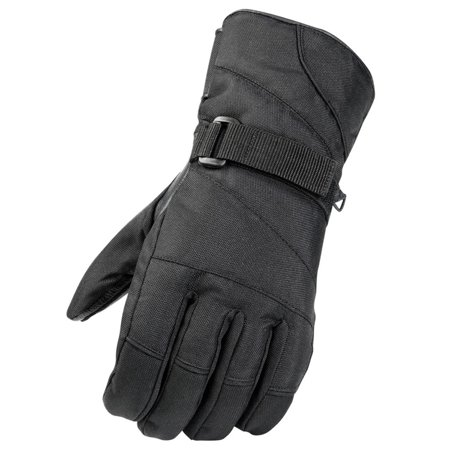 Raider, Adult Leather Palmed Snowmobile Gloves Black Snow Glove - Leather Snow Glove