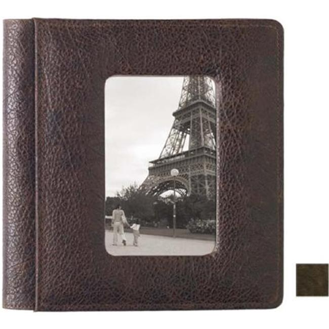 Raika VI 170 BROWN Framed-Front Scrapbook Album - Brown