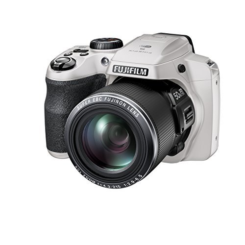 FujiFilm FinePix S9900W Digital Camera with 3.0-Inch LCD (White) (International Model) No Warranty by Fujifilm