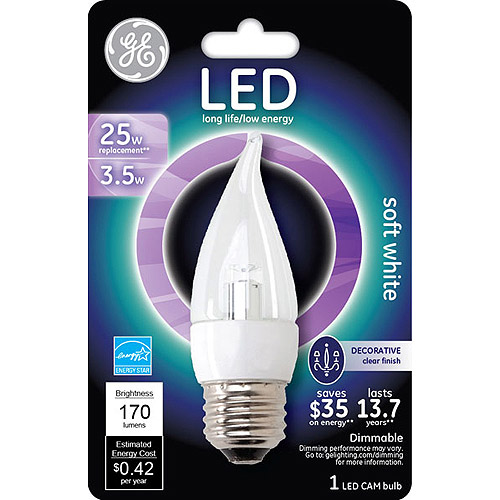 GE energy smart?? LED 3.5 watt bent tip 3-pack