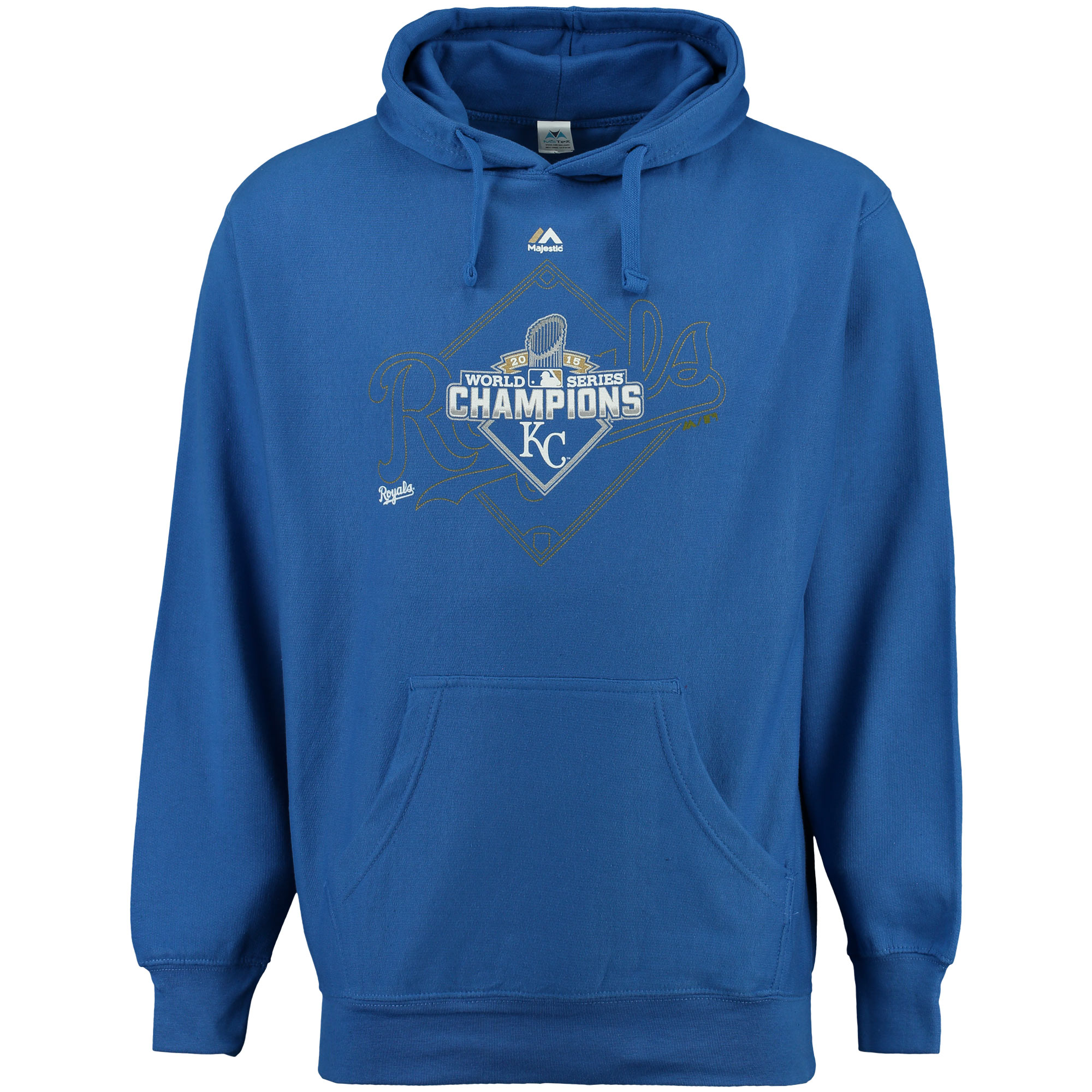 Kansas City Royals Majestic 2015 World Series Champs Infielder Hoodie - Royal
