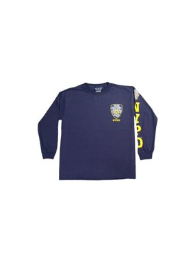 8741d0f36 Product Image NYPD Kids Long Sleeve Screen Print Chest Badge T-Shirt Navy  Yellow Large (14