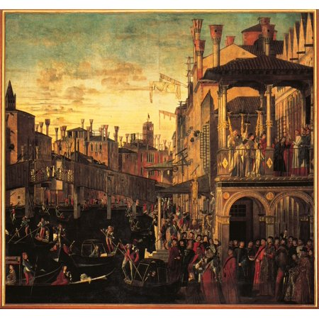 Miracle Of The Relic Of The True Cross At The Rialto Bridge Or The Healing Of The Possessed Man Canvas Art -  (24 x