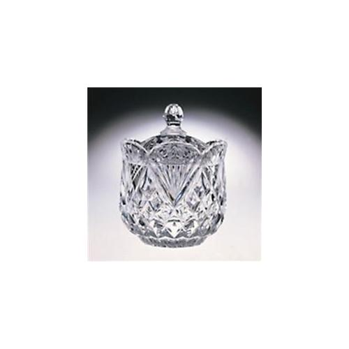 """6""""Clear Crystal Pineapple-Shaped Covered Candy Nut Box Dish Container with Lid"""