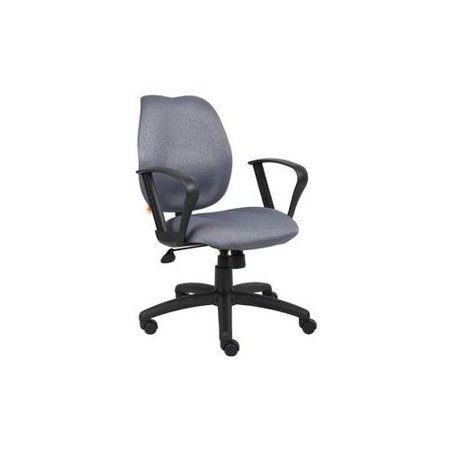 Task Chair With Loop Arms Gray