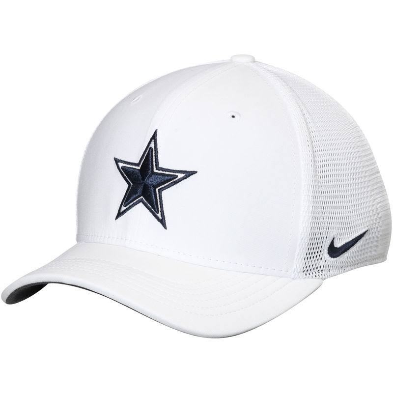 Dallas Cowboys NFL Nike Energy XC Swoosh Flex Hat Cap White Adult...