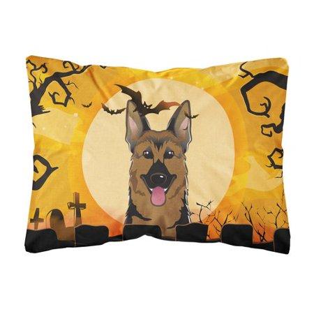 The Holiday Aisle Palou Halloween German Shepherd Fabric Indoor/Outdoor Throw Pillow (Holiday Park Germany Halloween)