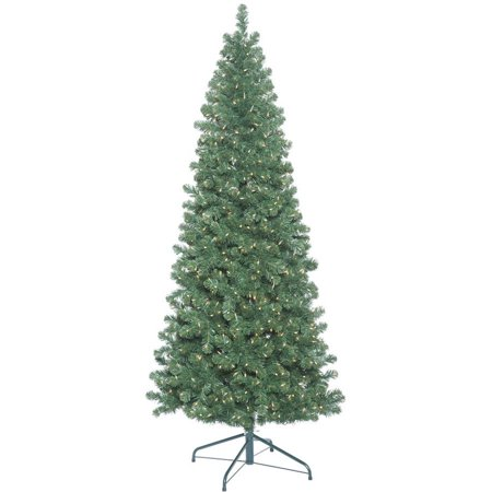 Vickerman 9 Oregon Fir Slim Artificial Christmas Tree With 900 Clear Lights