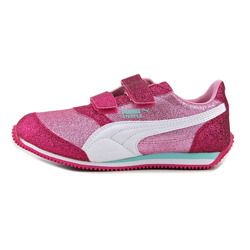Puma Steeple Glitz Glam V Ps  Youth  Round Toe Synthetic Pink Sneakers