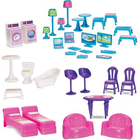 All American Family Dollhouse Accessory Pack Walmart Com