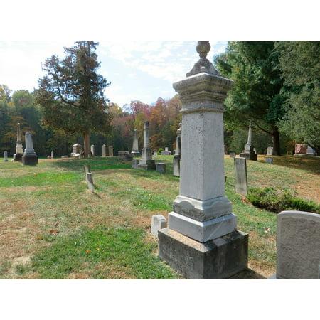 LAMINATED POSTER Grave Yard Cemetery Yard Grave Graveyard Halloween Poster Print 24 x - Halloween Cemetery Pillars