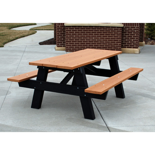 Frog Furnishings Recycled Plastic A-Frame Picnic Table