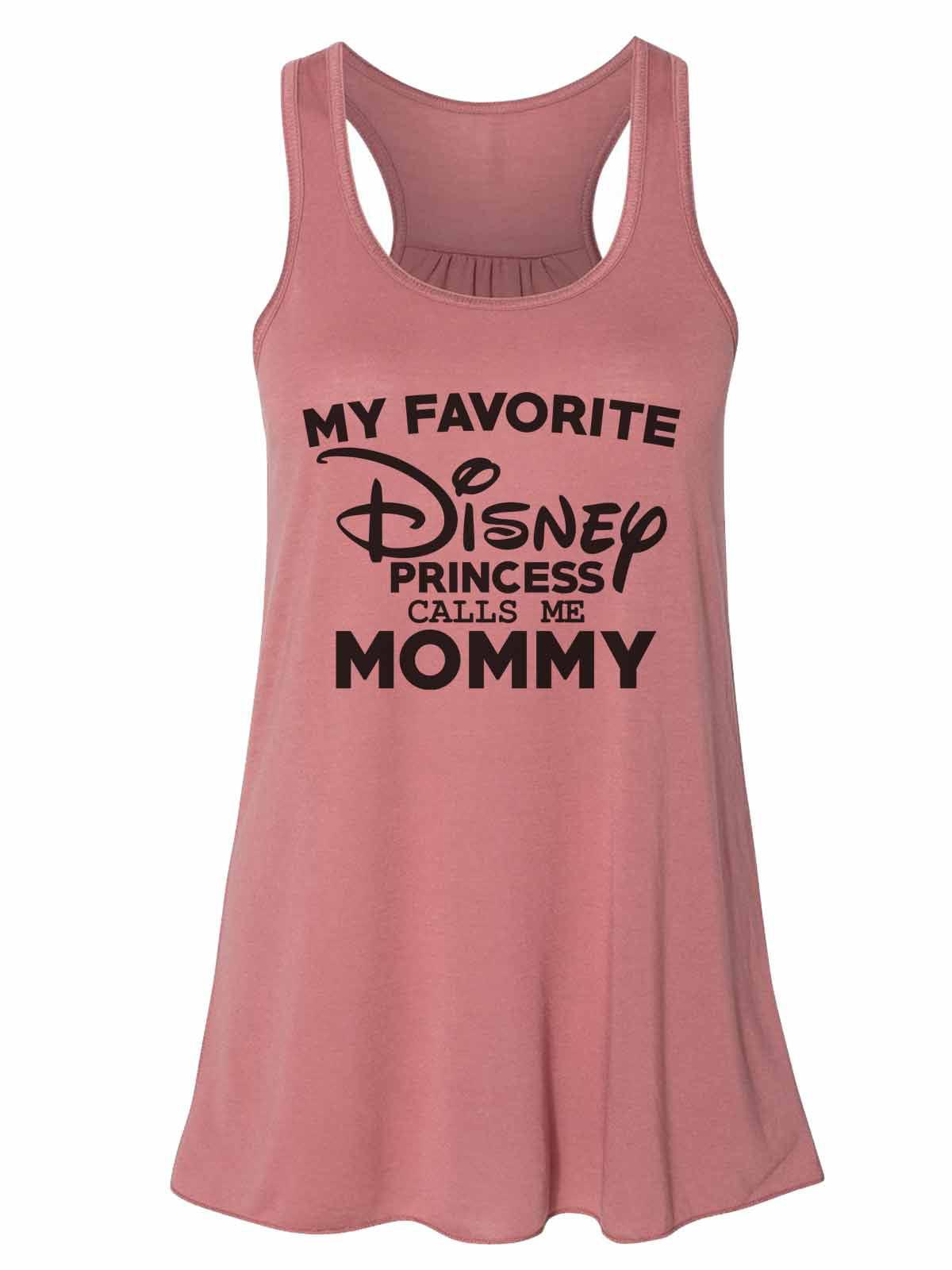 "Women's Tank Top Bella Soft ""My Favorite Disney Princess Calls Me Mommy"" Small, Mint"