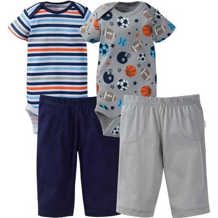 Onesies Brand Newborn Baby Boy Layette Outfit Set  4 Piece