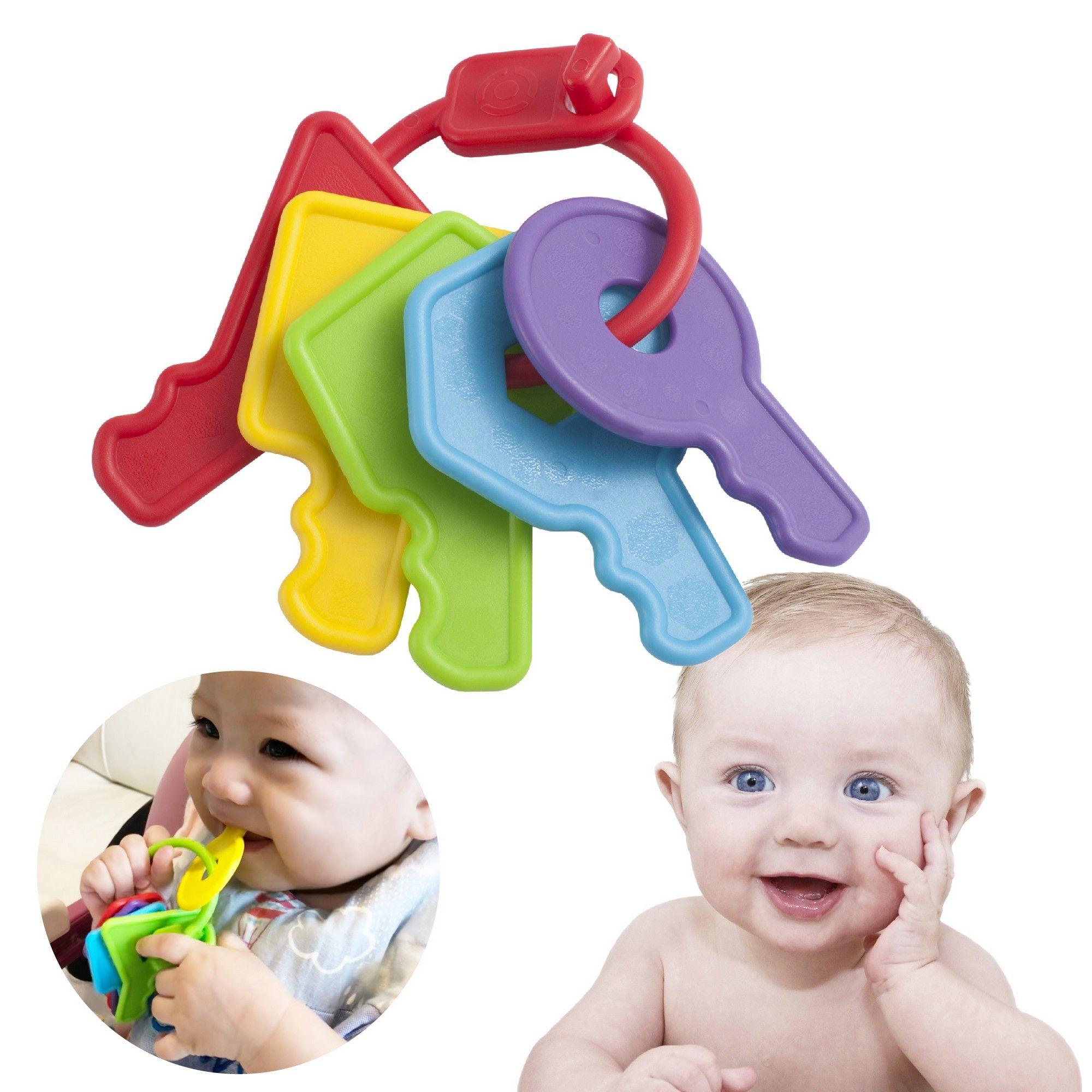 INNOKA Baby Teething Toys Key Teether Ring Gift for Baby ...