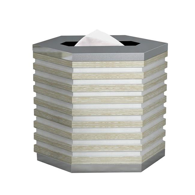 NuSteel BWW-9 5.5 x 5.5 x 5.5 in. Boardwalk White Tissue