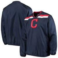 Cleveland Indians G-III Sports by Carl Banks Progression V-Neck Pullover Jacket - Navy
