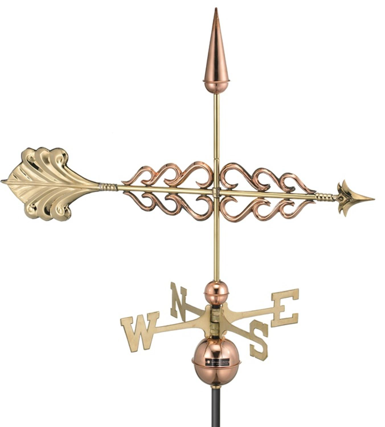 "33.5"" Smithsonian Collection Handcrafted Polished Copper Arrow Outdoor Weathervane by Weathervanes"