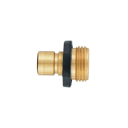 Orbit Brass Male Garden Hose Quick Connect Fitting for fast disconnect - - Brass Quick Disconnect Restraining Cable
