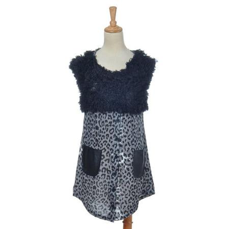 S/M Fit Trendy Black Grey Cheetah Leopard Print Fashion Short