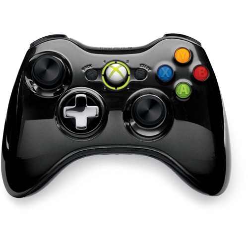 Microsoft Xbox 360 Special Edition Chrome Series Wireless Controller, Black - Walmart Exclusive