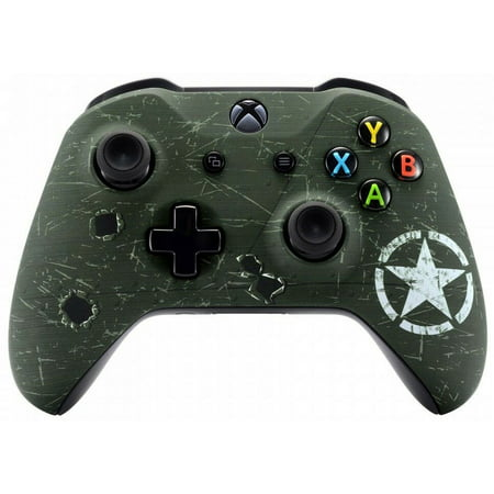 WW2 Xbox One S UN-MODDED Custom Controller Unique Design (with 3.5 jack)