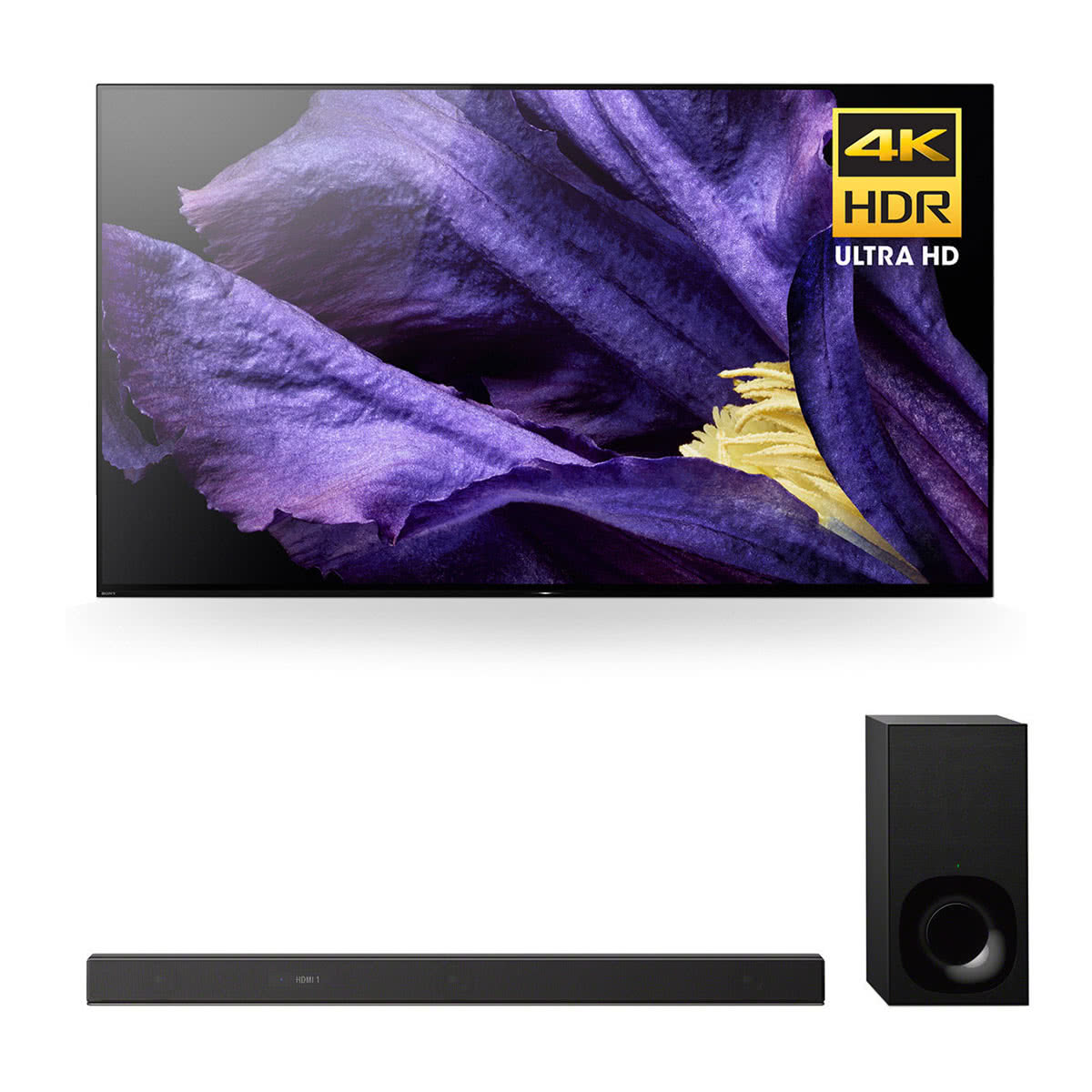 "Sony XBR-65A9F 65"" MASTER Series BRAVIA OLED 4K HDR TV and HT-Z9F 3.1-Channel Dolby Atmos Soundbar with Subwoofer"