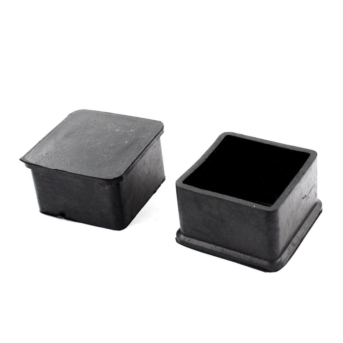 Unique Bargains 2pcs Home Chair Furniture Feet Ferrule Square Rubber