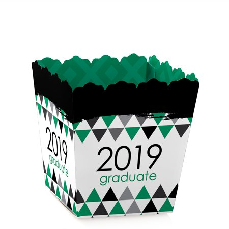 Green Grad - Best is Yet to Come - Party Mini Favor Boxes - Green 2019 Graduation Party Treat Candy Boxes - Set of
