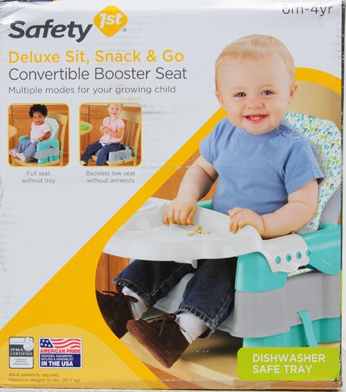 Safety 1st Deluxe Sit, Snack and Go Convertible Booster Seat, Tampa Bay by Safety 1st
