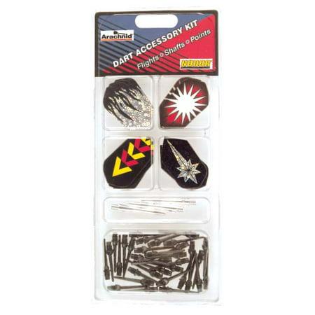 Arachnid / Nodor Dart Accessory Kit Includes Slim Flights, Aluminum Shafts, and Soft (Aluminium Dart Shafts)